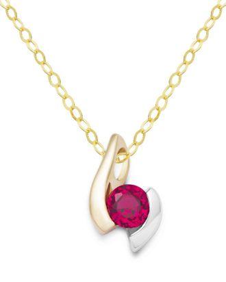 Halskette aus 375 Bicolor-Gold mit Rubin VALERIA 5420053354472