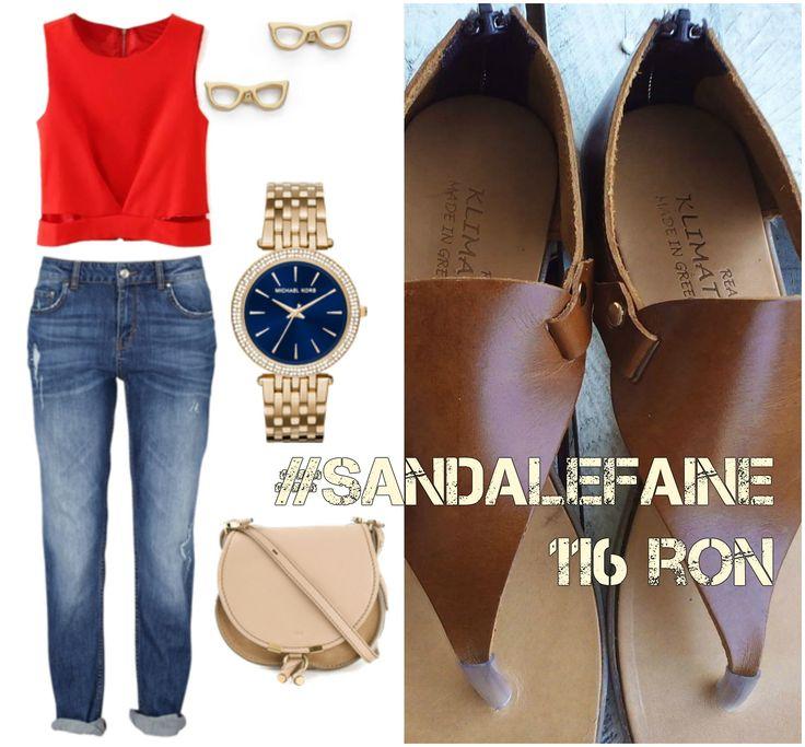 Ținută cu #sandalefaine. Boyfriend jeans, top roșu și o pereche de sandale faine FUNKY BROWN cu fermoar pe călcâi. Pentru că suntem cu un ochi la vară și cu celălalt la toamnă.  Sandale damă din piele naturală FUNKY BROWN >> 116 ron shop online @ https://funkyfain.ro/sandale-c-23/sandale-din-piele-naturala-cu-talpa-joasa-funky-brown-aramiu-p-182.html?zenid=nfo02nfgk9odfbt84am46084u0 | #sandale #sandals #sandaledamă #sandalefaine #funkyfain #sandaleonline #sale #reduceri [sursa: polyvore.com]