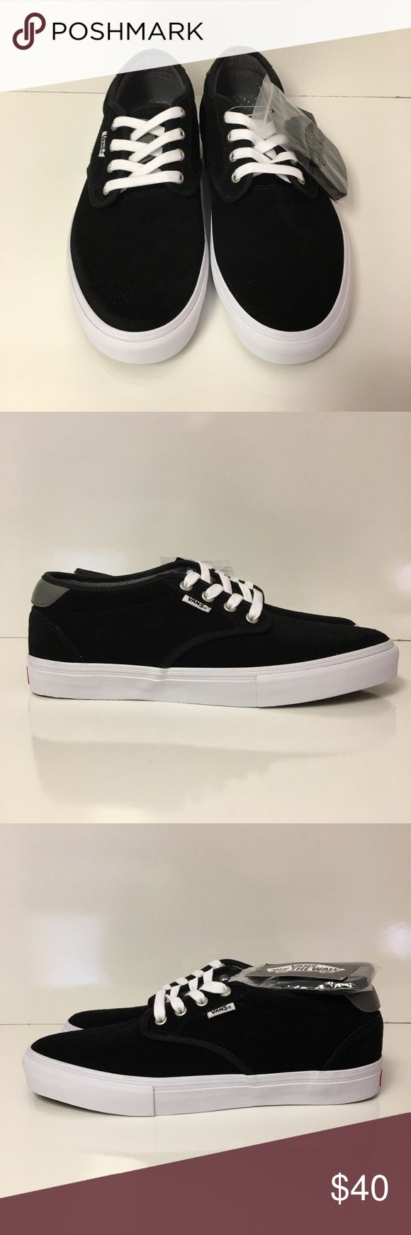 """Vans Chima Ferguson Pro suede sneakers. ** BRAND NEW **  Vans """"Chima Furguson"""" Pro sneakers. Ultra Cush. Size 10 Black suede. Cones with white and black laces. Vans Shoes Sneakers"""
