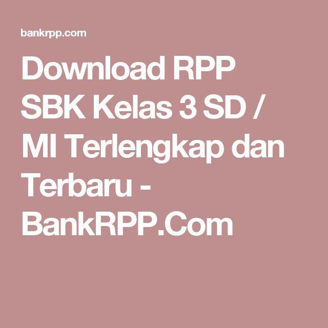 Download RPP SBK Kelas 3 SD / MI Terlengkap dan Terbaru - BankRPP.Com