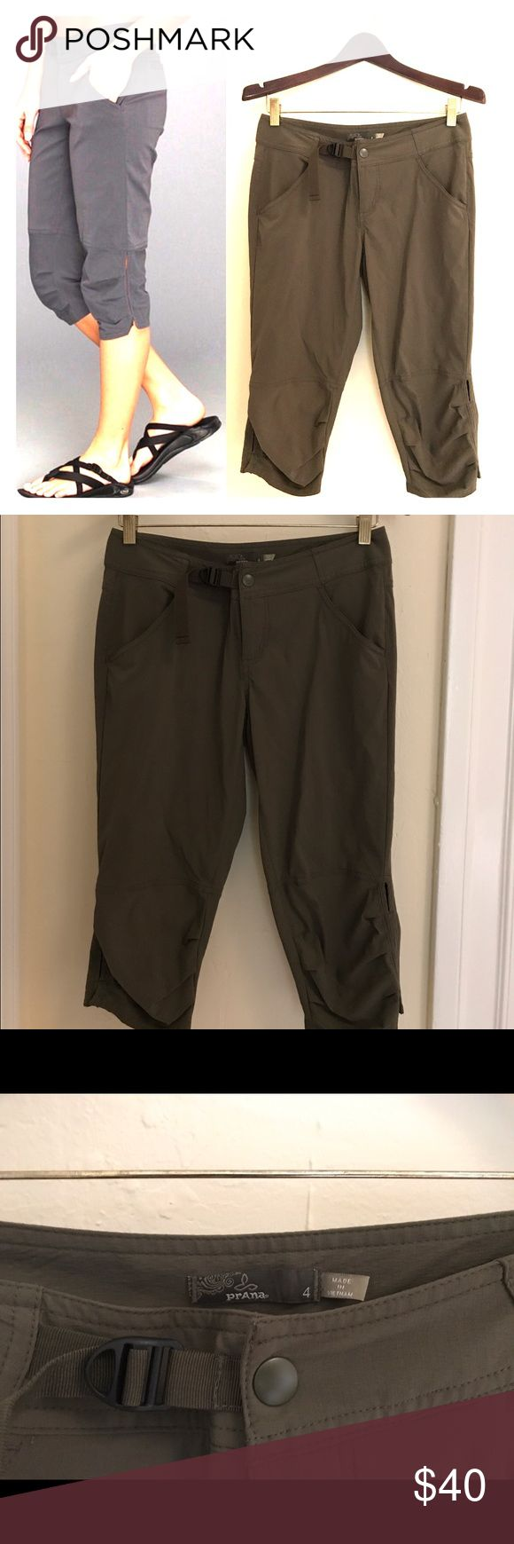 Prana Jasmine Knicker Prana Jasmine Knicker cargo green in great condition.  Water-resistant coating defends against light precipitation Adjustable waistband offers a customized fit Relaxed fit boosts your range of motion Multiple pockets stash your valuables Prana Pants Capris