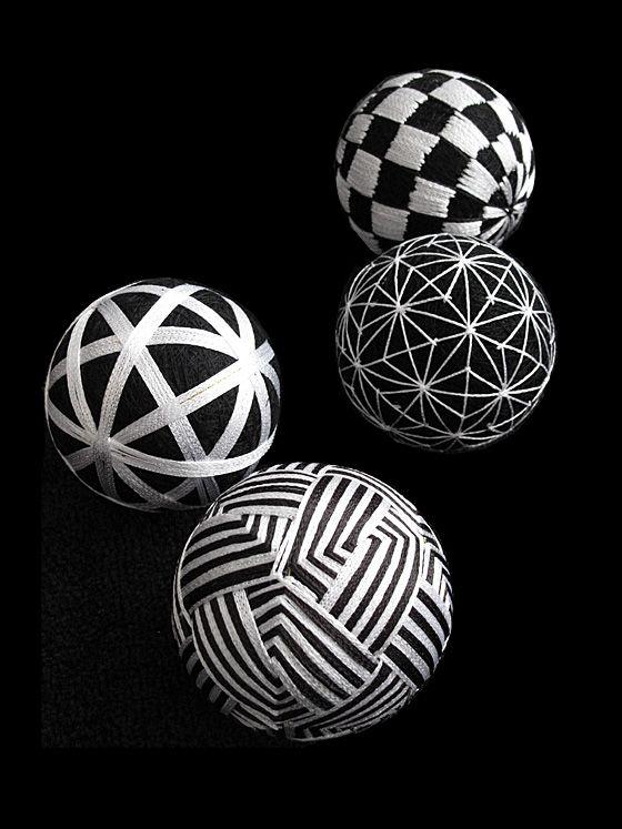 Japanese traditional handmade balls, Temari 手鞠
