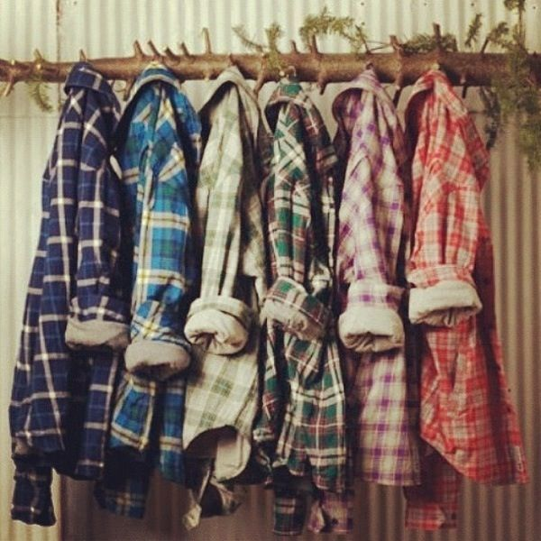Flannel. Can this be my closet, please.