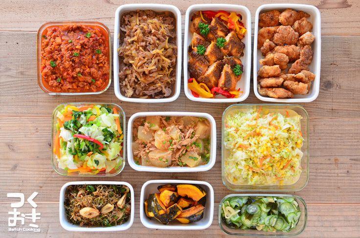 2016年1月第2週めの作り置き。調理時間120分で10品。使った食材から作ったおかず、1週間作り置きレシピを紹介します。作り置きをしない方も1週間の献立としてご利用下さい。
