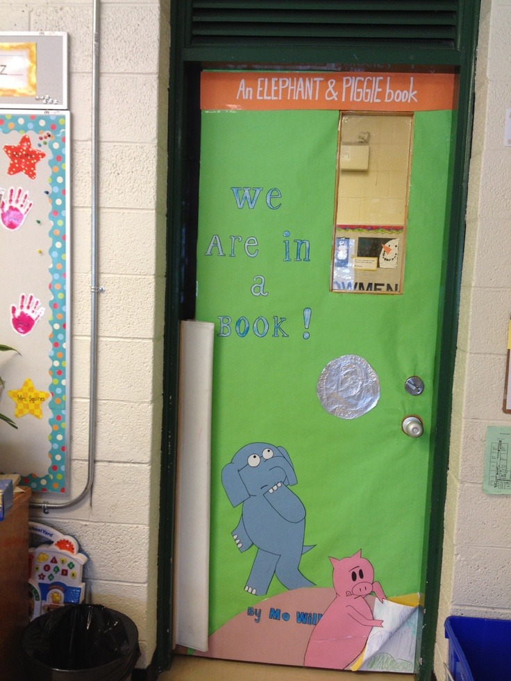 The Classroom Door Decorated As Our Favorite Book Cover