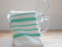 Brighten your kitchen with a flour sack towel in any color and pattern you choose