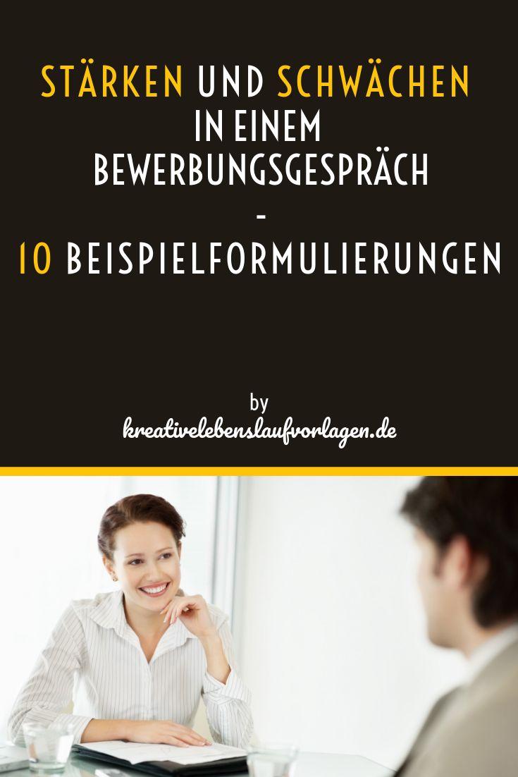 10 Beispielformulierungen meiner Stärken und Schwächen in einem Bewerbungsgespräch