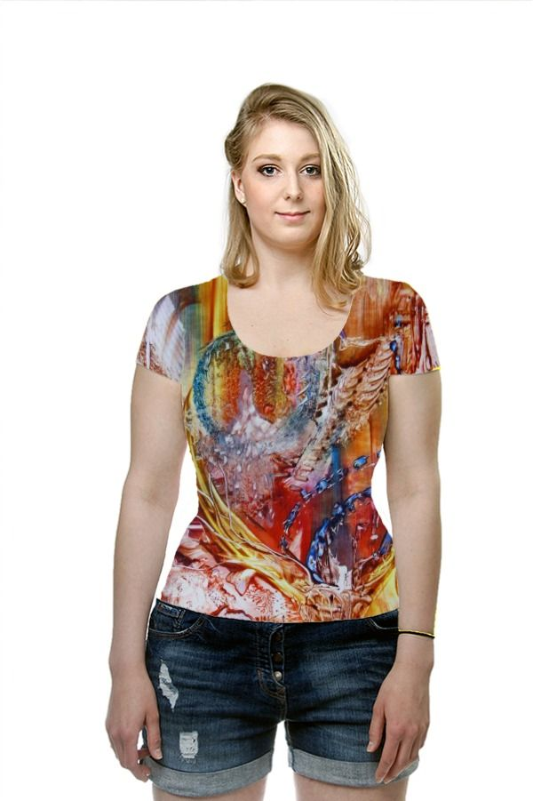By Liesbeth Vaes. All Over Printed Art Fashion T-Shirt by OArtTee