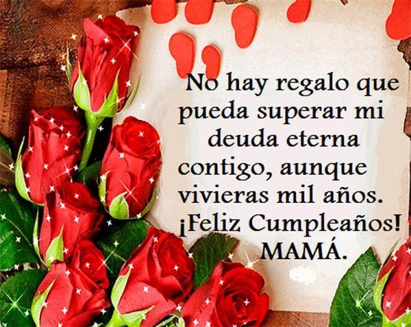Mensaje de feliz cumpleanos para tu madre