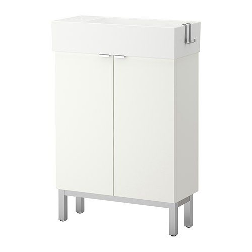 Lill ngen sink cabinet with 2 doors white 23 5 8x10 5 for Kitchen cabinets 8x10