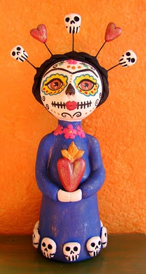 Dia de los muertos art doll.