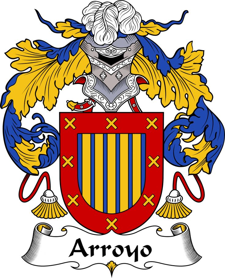 Arroyo Coat of Arms, Arroyo Family Crest, Arroyo escudo de armas, Arroyo cresta de la familia, Arroyo apellido, Arroyo Family reunion, spanish genealogy