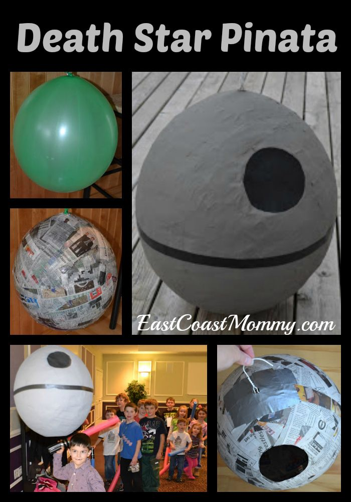 This website has step-by-step instructions for crafting this AWESOME Star Wars pinata. It's easy, inexpensive, and a fun addition to a Star Wars party!