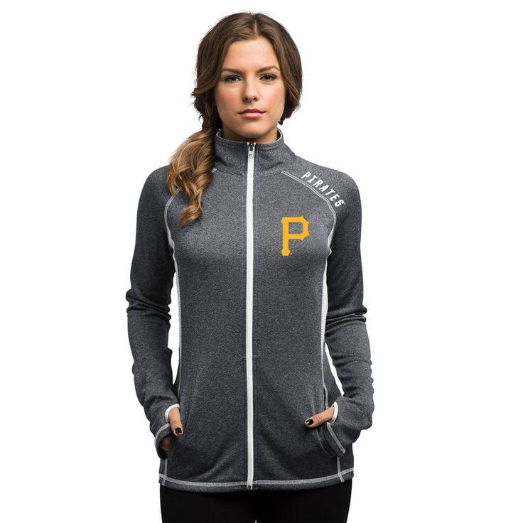 Women's New York Yankees Nike Heathered Gray Gym Vintage Team Full Zip Hoodie
