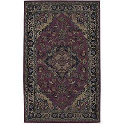 Nourison Hand-tufted Caspian Red Wool Rug (5' x 8') $180