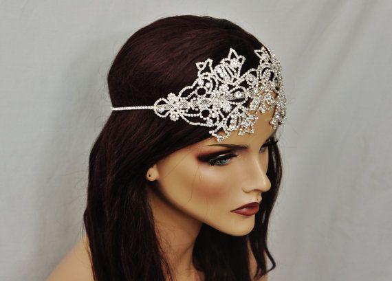 Braut Strass Stirnband glitzernden Stirnband Ard von EleganceAtHand