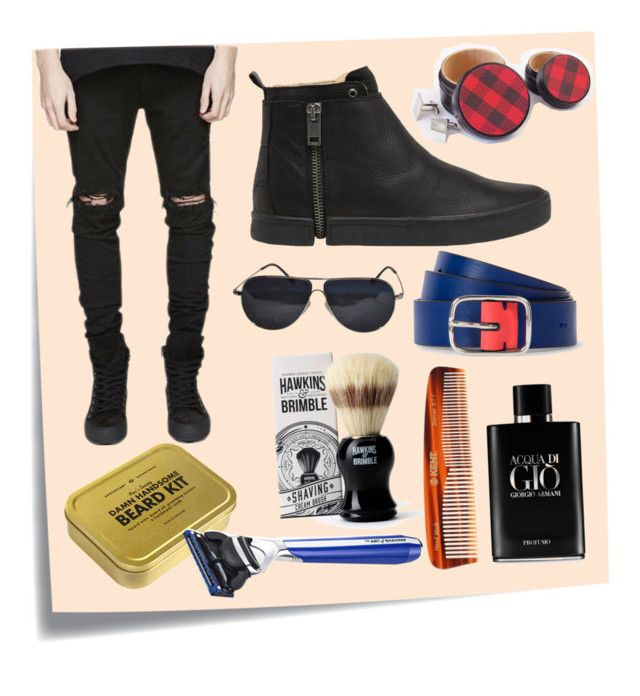 """Men's Grooming"" by waltersilvaart ❤ liked on Polyvore featuring Post-It, Men's Society, Hawkins & Brimble, Kent, The Art of Shaving, Giorgio Armani, Diesel, Paul Smith, BMW and modern"