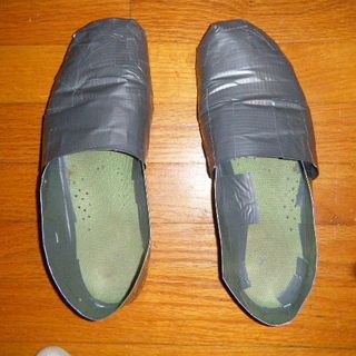 duct-tape shoes for Tin Man costuem