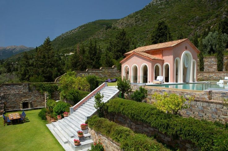 In #Lefkada, the island where Aristotle Onassis found his retreat, the island of countless beauties and Venetian influence, dominates #Villa Veneziano, an architectural gem that is a fascinating destination by itself. #ionian, #luxury, http://www.tresorhotels.com/en/hotels/60/villa-veneziano