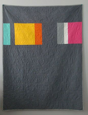 I really dig the bright simplicity of this quilt back by Mari Makes.