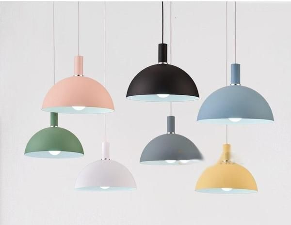 Modern Nordic Round Lampshade Hanging Light Hanging Lights Repurposed Lamp Bedroom Ceiling Light