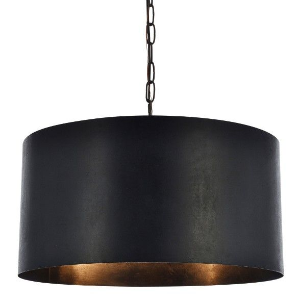 Elegant Lighting Ld6015d20 Miro 3 Light 20 Pendant Metal Drum