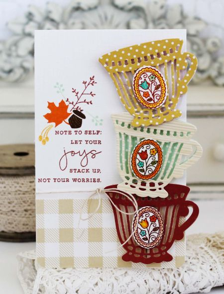 Let Your Joys Stack Up Card by Melissa Phillips for Papertrey Ink (August 2016)