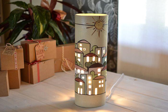 Lampada da tavolo in ceramica gres Alta Modello Urbe   KRISMAKER