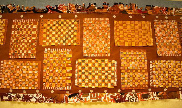 Weavings inspired by African Mud Cloths, via Flickr.