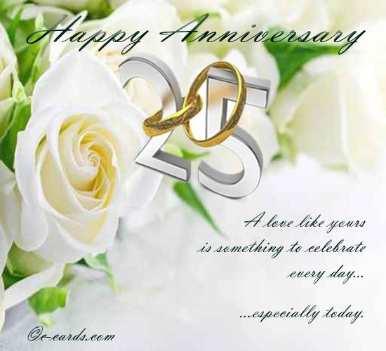 Marriage Anniversary Quotes For Couple: Silver Wedding Anniversary...!!
