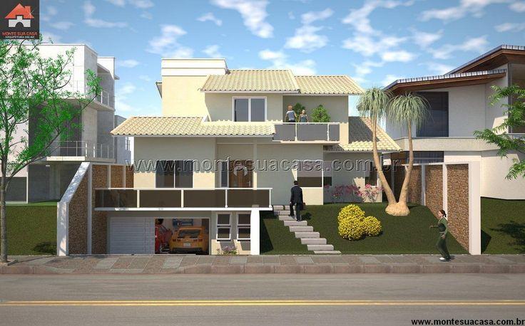 Planta de Sobrado - 4 Quartos - 301.22m² - Monte Sua Casa