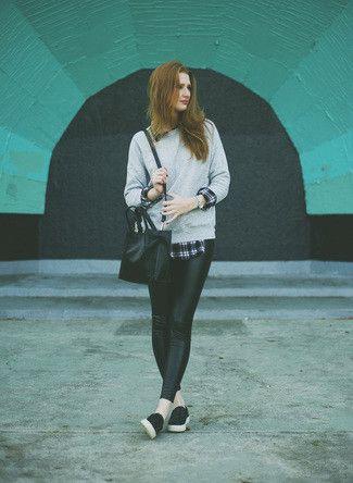 Cómo combinar unas zapatillas slip-on negras en 2017 (71 formas) | Moda para Mujer