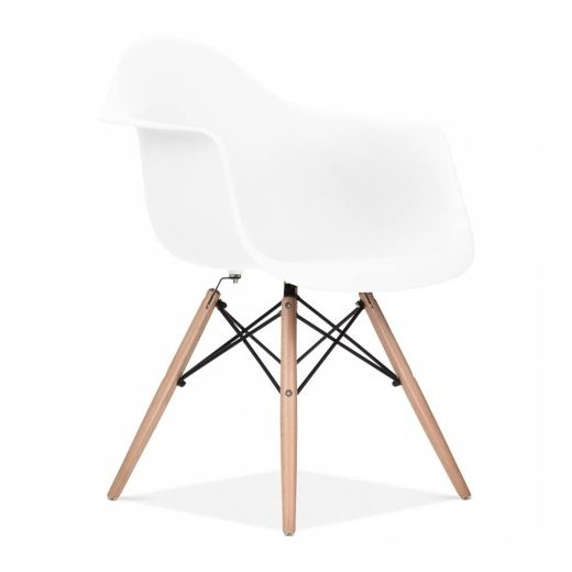 Charles Eames Style White DAW Chair | Side & Cafe Chairs | Cult UK