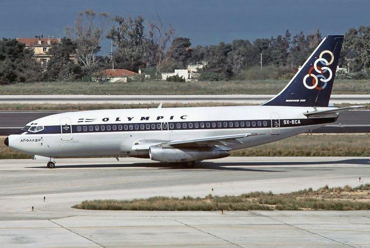 Olympic Airways Boeing B737-284 Apollon Adv at Hellinikon Intl. Airport, Greece, 1981 - wikimedia - Aldo Bidini GFDL