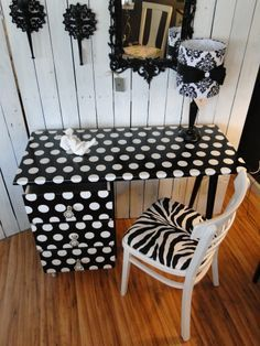 whimsical black stripe, polka dot birthday party | Black and white polka dot zebra crystal knobs whimsical fun modern ...