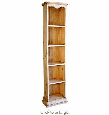 Skinny Rustic Pine Bookshelf