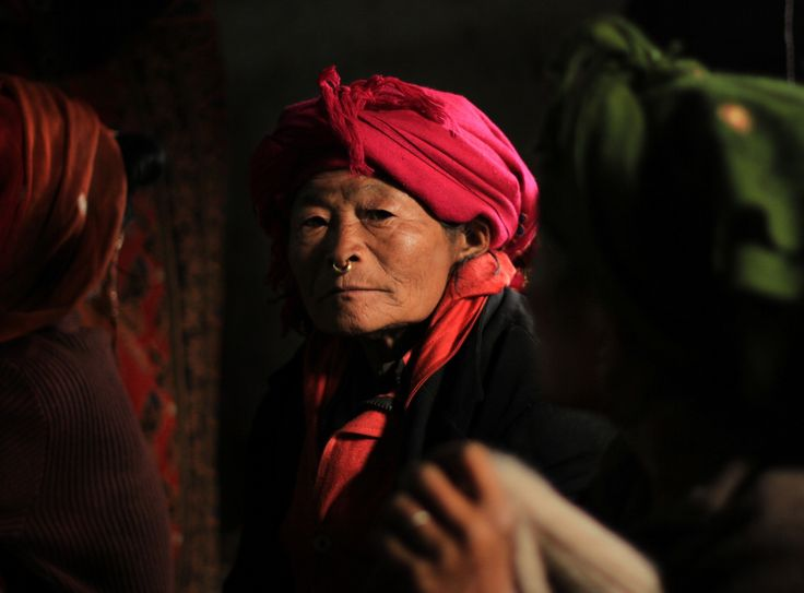Grandmother by Heema Rai on 500px A Kirat Kulung woman looks at my camera. Her jewelery and her scarf is representative of this place called Chheskam. #Nepal #history #ornament