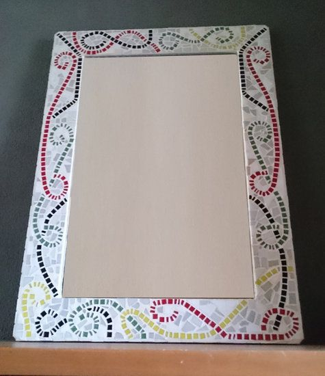 Mirror with glass mosaic frame - md4arts