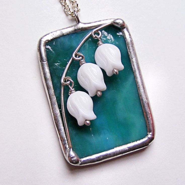 101 best stained glass jewelry images on pinterest glass pendants stained glass belle fleur pendant necklace aloadofball Gallery