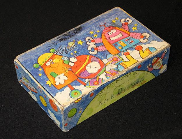 Cardboard Pencil Boxes | 17 Retro School Supplies We Wish Were On Our Shopping Lists.  I REALLY wish I could find the pencil boxes.  The plastic ones are so loud!