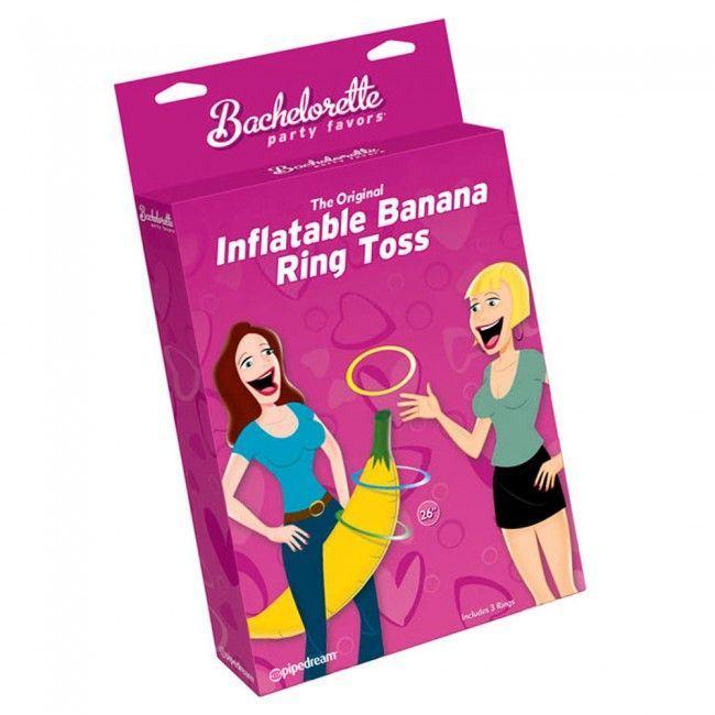 Inflatable Banana Ring Toss Hens Party Game