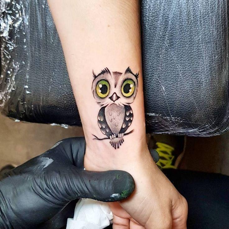 20+ Adorable Small Owl Tattoo Ideas #TattooIdeasSmall #ILoveTattoos!