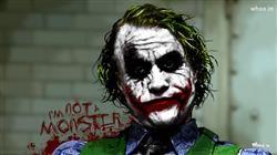 The Joker I Am Not Monster HD Painting Wallpaper,Painting Wallpaper,The Joker Painting Wallpaper,The Dark Knight Wallpaper
