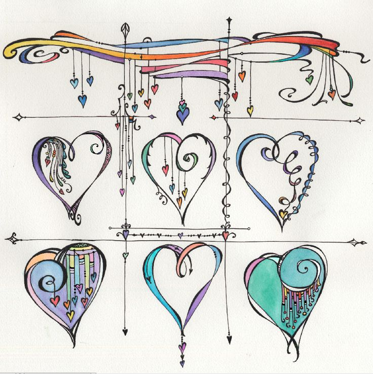 Zenspirations - Home. this to me would look better if the hearts were attached to the top and the tops of each other