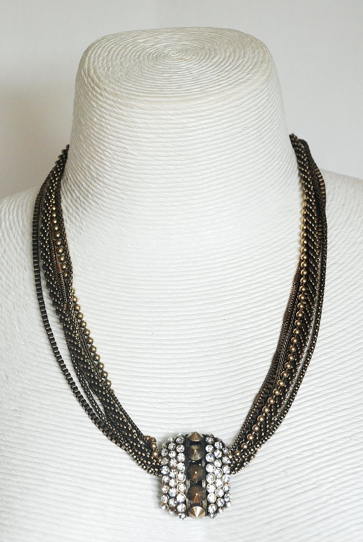 Beautiful handmade necklace with Swarovski crystals from www.Born2shop.co.nz