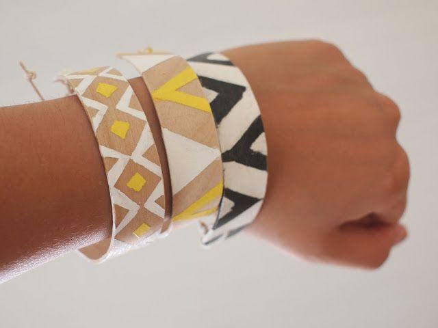 Pink Stripey Socks: Make Popsicle Bracelets