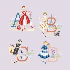 """ABC """"les parisiennes"""" – French Needlework Kits, Cross Stitch, Embroidery, Sophie Digard – The French Needle"""