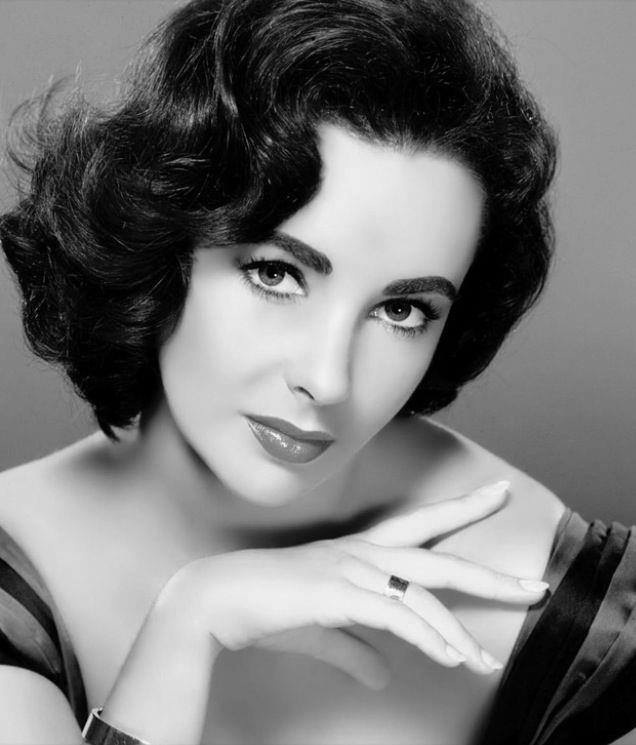 """Elizabeth Taylor, classic pose, flawless makeup and hair styling.  As the late, great cinematographer William Fraker told our series' co-creator Steven Wasserman, """"Bring back the glamour!"""""""
