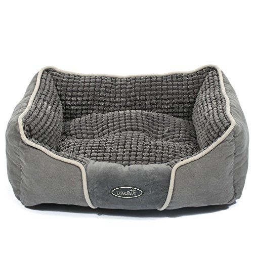 Pecute Deluxe Pet Bed for Cats and Small Medium Dogs Rectangle Cuddler with Soft Detachable Cushion Machine Washable M 208 x 248 x 82 -- Check out this great product.