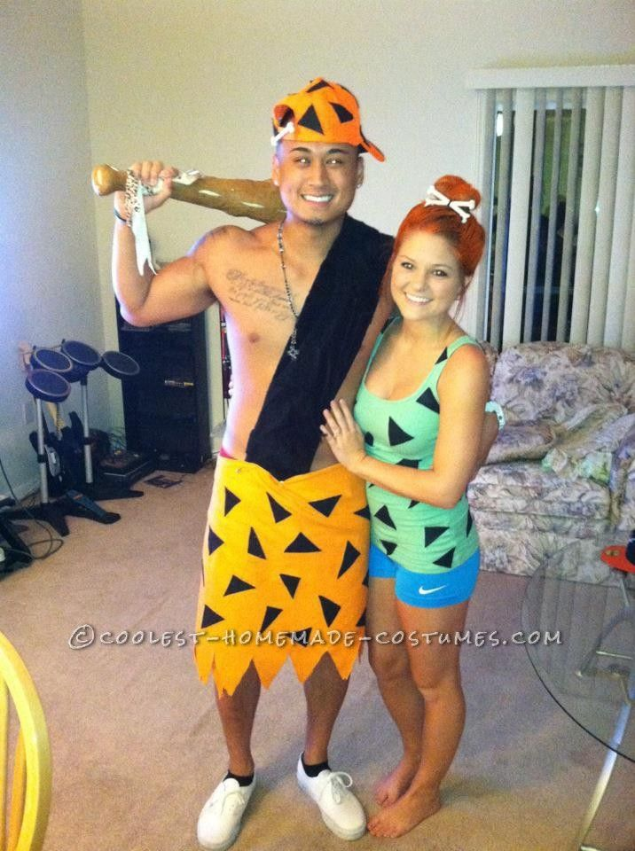 Coolest Homemade Bamm Bamm and Pebbles Couple Costume... This website is the Pinterest of costumes